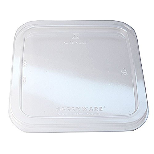 Fabri-Kal LGS6 Greenware Clear On-The-Go Box Lid - 300 / CS (9509521)