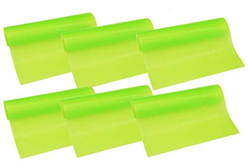 HityTech 6 Pack Refrigerator Mats, Washable Fridge Mats Liners Waterproof Fridge Pads Mat Shelves Drawer Table Mats 17 3/4 x 11 3/4 - 6 All Green