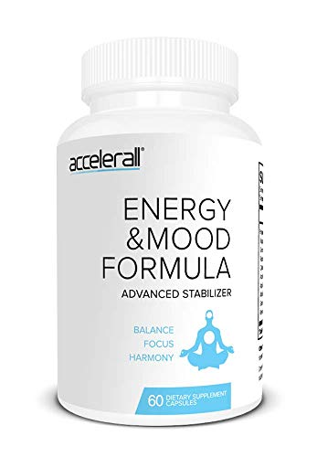 ACCELERALL Advanced Energy & Mood Formula for Smooth Energy - Focused Energy for Your Mind & Body with Green Tea Extract, Caffeine, Antioxidants - 60 Capsules