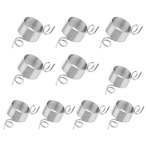 10 Pieces Metal Yarn Guide Finger Holder Knitting Thimble for Knitting Crochet Crafts Accessories Tool, 2 Size (Tension Yarn Guide)