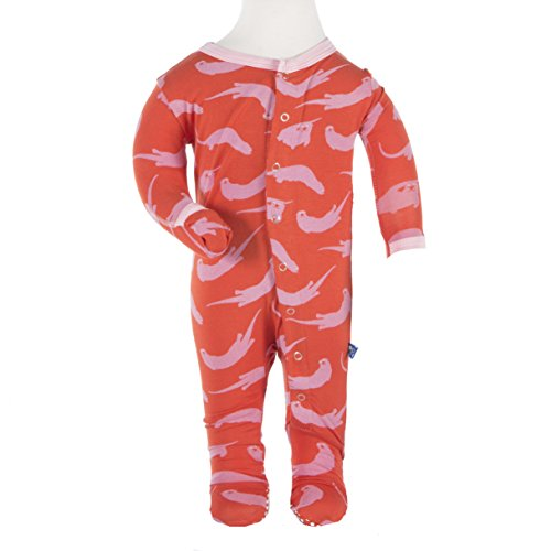 Kickee Pants Baby Girls' Print Footie Prd-kpf175-Po
