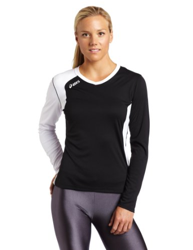 Asics Womens Digg Long Sleeve  Black White  Medium