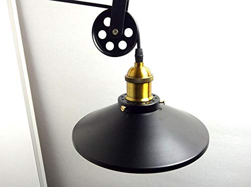 Wall Lamp Aisle Lamp Wall Light Bed Suitable for Living Room Dining Room Study Room Bedroom Corridor Balcony Stairs Path Hotel Restaurant Cafe Bar Library, Black by KUANDAR Light (Image #4)