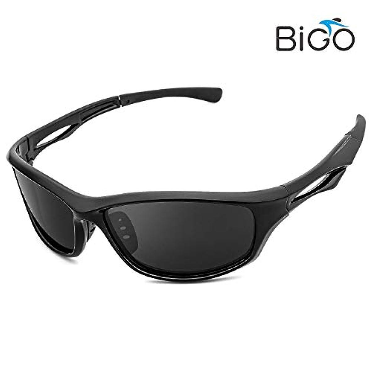[해외] BIGO 스포츠 썬글라스 편광 렌즈 남녀 겸용 편광 썬글라스 초경량・UV400자외선 컷 낚시/런닝 /스노우보드/스키/자전거/드라이기이브/오토바이/테니스/운전용 수납 파우치 부속