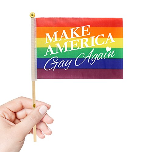 Rainbow Pride Flags - 4 x 6 - 12 Pack (Make America Gay Again)]()