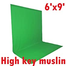 CanadianStudio Photo Studio 6'x9' Green High Key Muslin Chromakey Backdrop Background from Canadian Seller