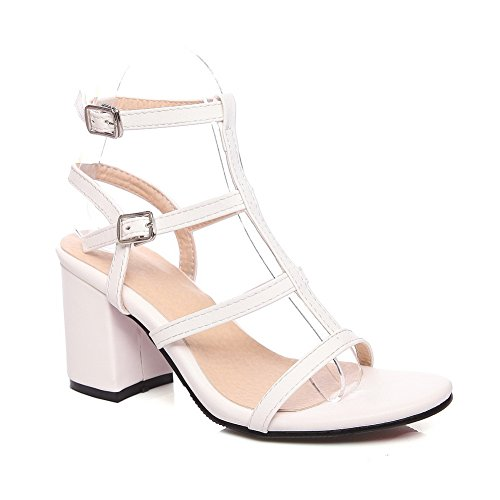 SLC04189 Femme Bout Ouvert Blanc AdeeSu UOPqvnT