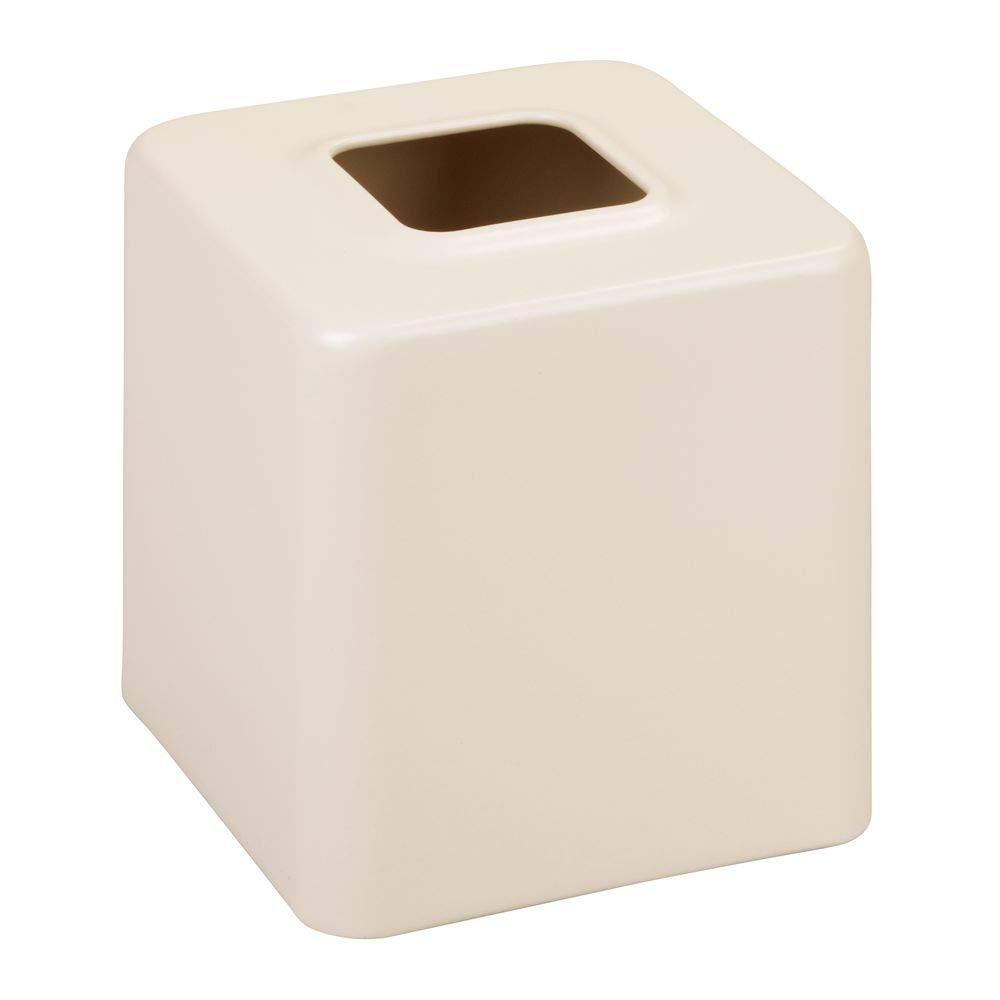 mDesign Juego de 2 cajas para pañuelos de papel - Caja para toallitas para baño, dormitorio o cocina - Dispensador de pañuelos de metal - Preciosas ...