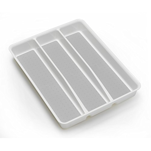 Price comparison product image Style Selections 14.98-in x 12.09-in Plastic Cutlery Insert Drawer Organizer