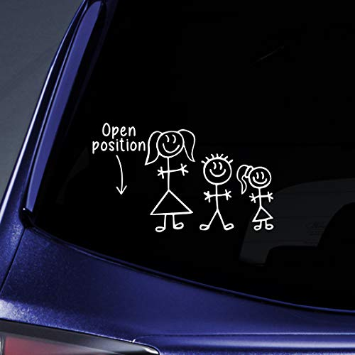 Facts Family Sticker - Bargain Max Decals - Stick Figure Family Position Open Sticker Decal Notebook Car Laptop 6