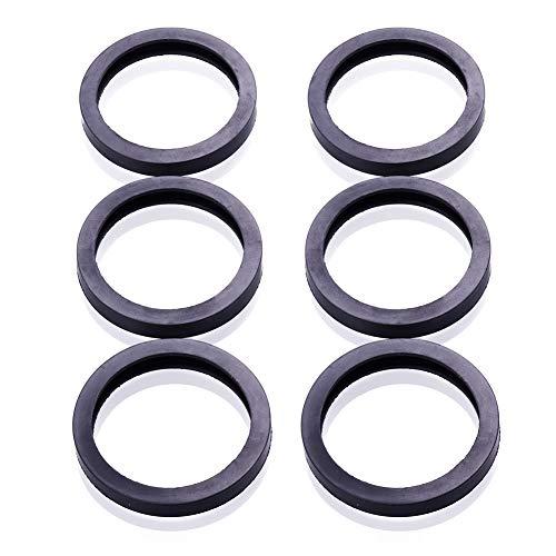 6PCS Rubber Gas Can Spout Gasket Fuel Can Nozzle Part Replacement Seals for Universal 2.5 5 Gallon 10 20L Fuel Tank Spout by RUNMIND