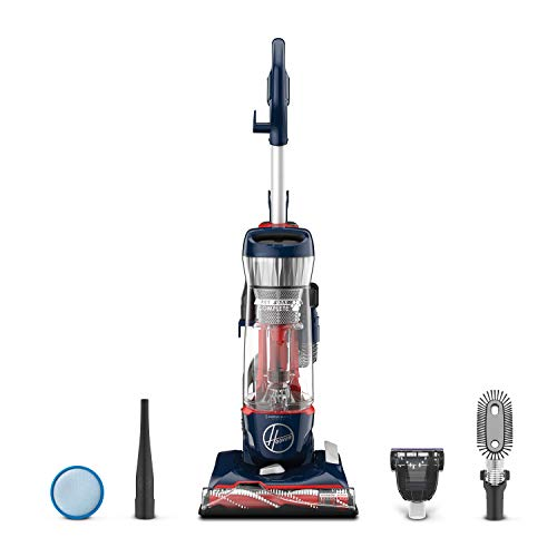 Hoover Pet Max Complete Bagless Upright Vacuum Cleaner, UH74110, Blue Pearl (Best Small Vacuum Cleaners 2019)
