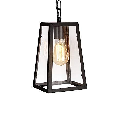 (Jtivcs Vintage Modern Glass Pendant Light Fitting Retro Industrial Iron Metal Loft Hanging Ceiling Pendant Lamp Light Kitchen Island Retro Adjustable E27 Edison Chandelier for Restaurant)