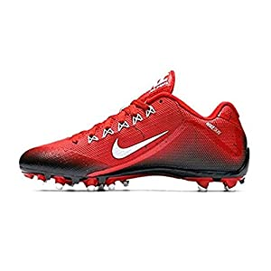 NIKE Men's Alpha Pro 2 Football Cleat (11.5, Game Red/White/Black)