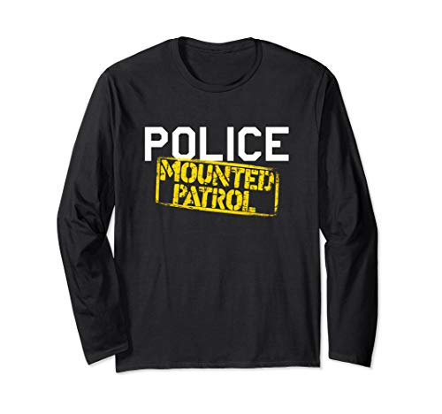 Police Officer Mounted Patrol Shirt Cops Law -