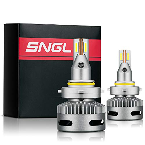 SNGL Projector-Specific Version 9005 LED Headlight Bulbs Conversion kit - Adjustabe Beam - 6000K Bright White - 2Y Warranty