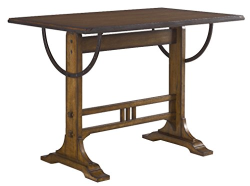 East at Main Merrill Brown Round Teakwood Accent Table, 22x22x22