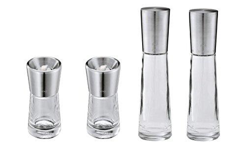 Rösle Stainless Steel Spice Mill (2), Oil and Vinegar Dispenser -