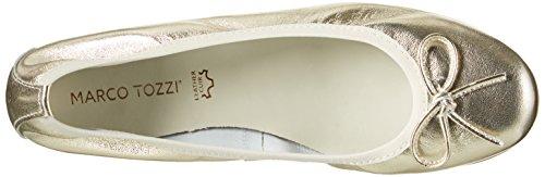 Marco Tozzi Mädchen 42403 Geschlossene Ballerinas Silber (Platinum 957)