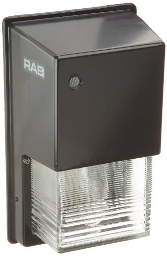 Prismatic Refractor (RAB Lighting WPTGHH70QT/PC Tallpack Metal Halide Wallpack with Prismatic Glass Refractor and Quad Type, ED17 Type, 70W Power, 5600 Lumens, 120V Button Photocell, Bronze Color by RAB Lighting)