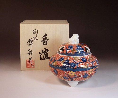 有田焼伊万里焼の高級香炉陶器|贈答品|ギフト|記念品|贈り物|満開桜絵陶芸家 藤井錦彩 B00J8BI0QI