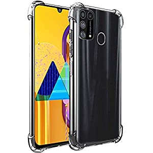 CEDO Samsung M31 / F41 / M31 Prime Bumper Case| Soft Jel Flexible Thin Full Protection Shock Proof Clear TPU Back Case…