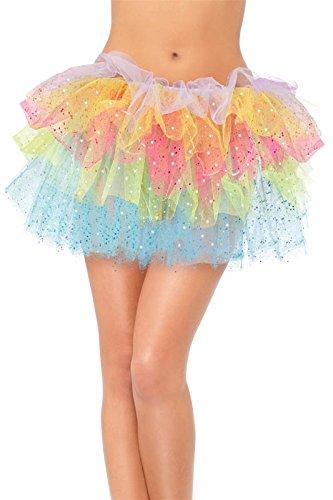 Smiffy's Women's Sparkle Rainbow Tutu, 4 Layers, One Size, 22619