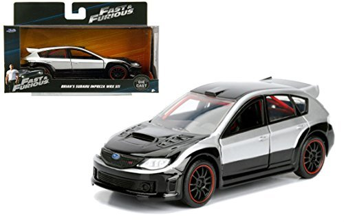 NEW 1:32 JADA TOYS COLLECTOR'S SERIES FAST & FURIOUS - BLACK SILVER BRIAN'S SUBARU IMPREZA WRX STI Diecast Model Car By Jada Toys ()
