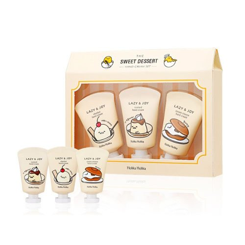 [Holika Holika] Gudetama Lazy & Joy Pudding Hand Cream 30g 3 Gift Set
