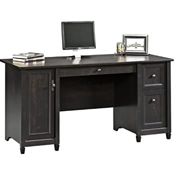 Amazoncom Sauder Computer Desk Brushed Maple Finish Kitchen