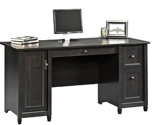 sauder edge water computer desk estate black black computer desks