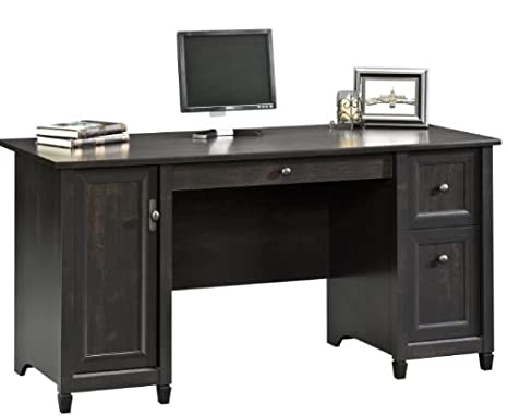 Sauder Edge Water Computer Desk, Estate Black by Sauder