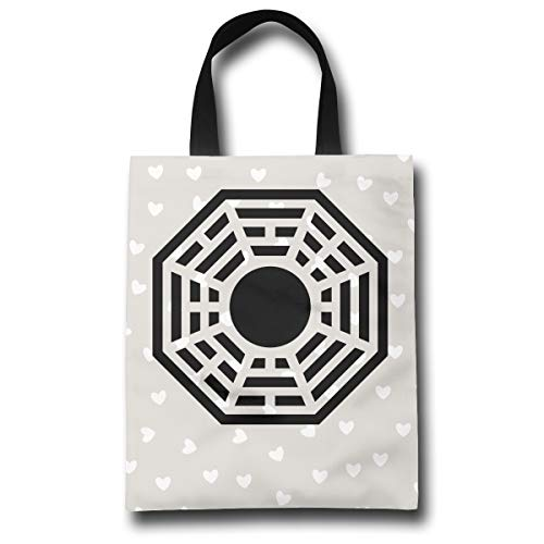 Lqzdqa Dharma Fashion Reusable Shopping Bags Eco Friendly Durable Reticule Dharma Eco Friendly Bag