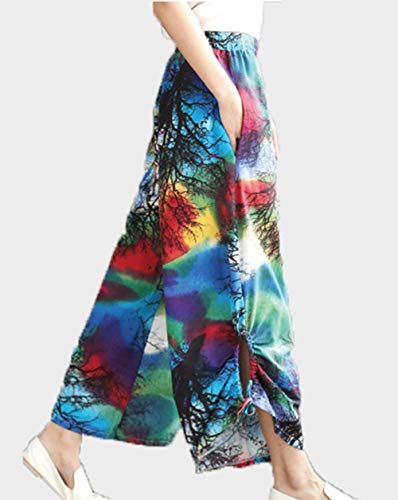 Donna colore Blu letteratura culottes Pantaloni e semplice estate Primavera slip casual Chqin l'arte Pantaloni ed prodotto La harem Nuovo wqHd1x5