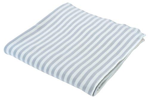Blankets Cotton Nile The Under - Under the Nile Unisex Baby Swaddle Blanket Grey Stripe 34