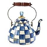 MacKenzie-Childs Royal Check Enamel Tea Kettle - 3 Quart