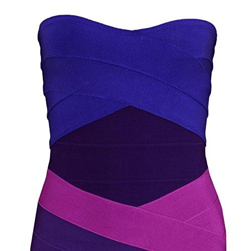 Mini Gradiente Dress Sexy Bodycon HLBandage Strapless Viola Women's Bandage 07w1qt