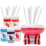 The Candery Cotton Candy Machine - Bright, Colorful Style- Makes Hard...