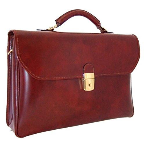 Pratesi Piccolomini Briefcase – R604 – (Dark Brown)