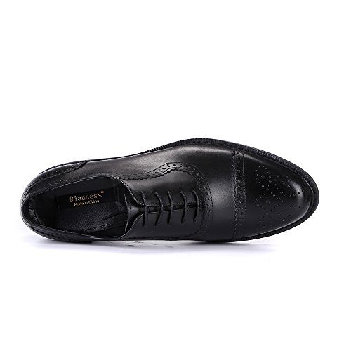 Quarter Brogues Oxford Exquisite Black Design Men Shoes For Classical TzARqFT