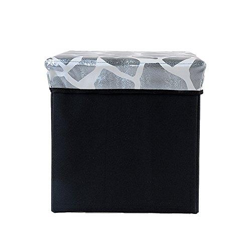 VANORIG® Stylish Household Foldable Square Storage Ottoman Folding Storage Seat ,Multifunctional Fabric Storage Boxes Foot Rest Stool