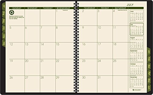 AT-A-GLANCE 2014-2015 Academic Year Weekly and Monthly Appointment Book, Wirebound, Black, 8.25 x 10.88 Inch Page Size (70-957G-05) Photo #2