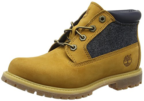Buffed Urban Marron blue Barefoot Timberland wheat Chic dark Bottes Nellie Femme Felt Chukka Nubuck Blau w1YzqwZ