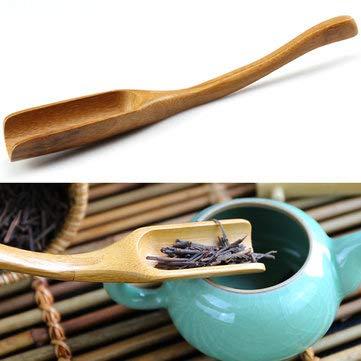 - Coffee Tea Making Tools Tea Tools - Bamboo Tea Spoon Curved Tea Spoon Tea Leaves Measurement Kungfu Tea Acessaries