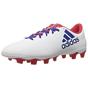 adidas Performance Women's X 16.4 FxG W Soccer Shoe, White/Cobalt/Ray Red Fabric, 9.5 M US