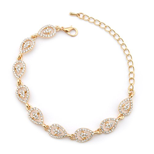 Topwholesalejewel Wedding Bracelet Gold Plating Multi Link Bracelet