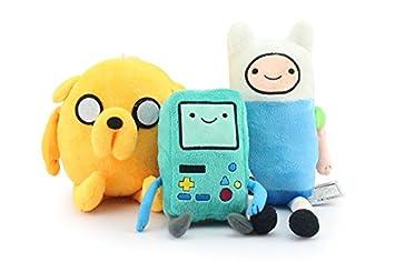 Adventure Time - FINN, Jack, BMO Peluche Felpa Muñeca de Juguete
