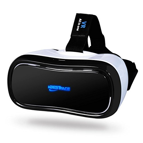 3D VR All in One Virtual Reality Headset WiFi 2.4G Bluetooth 1080P 360 degree Panorama Theater VR Headset Supports TF Card for PC Movie Games Youtube Google - Online Face Glasses Try Your On