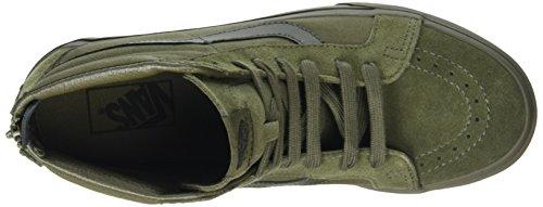 Vans Sk8 Slim Zip Hi-Top Sneakers Green (Mono Ivy Green) UErgxv
