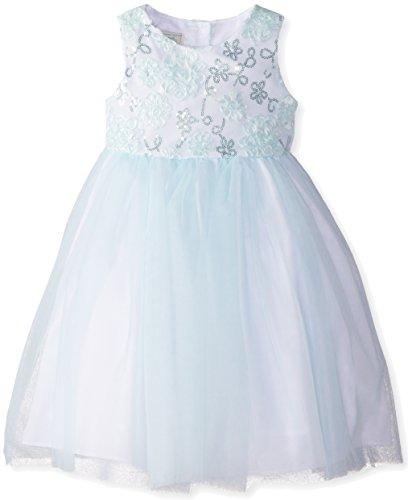 Marmellata Little Girls' Sparkle Dress, Blue, 5